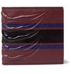 Alexander McQueen Ribcage-Embossed Leather Billford Wallet