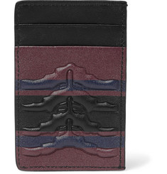 Alexander McQueen - Ribcage-Embossed Leather Cardholder