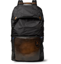 Berluti Hike-On GM Polished-Leather and Nylon Backpack