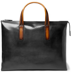 Berluti Perspective Moderniste Polished-Leather Briefcase