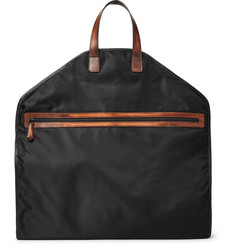 Berluti - Hemisphere Leather-Trimmed Nylon Garment Bag