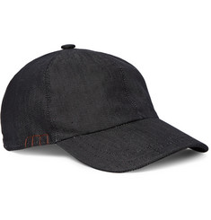 Berluti - Cotton and Silk-Blend Denim Baseball Cap