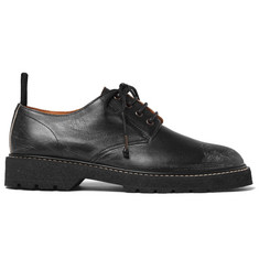 Maison Margiela Distressed Leather Derby Shoes