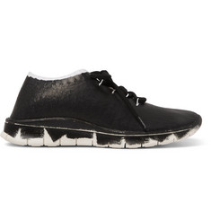 Maison Margiela Crunch Coated-Jersey Sneakers