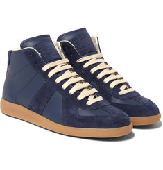 Maison Margiela - Replica Suede and Leather High-Top Sneakers