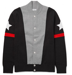 Givenchy Slim-Fit Appliquéd Colour-Block Stretch Cotton-Blend Bomber Jacket
