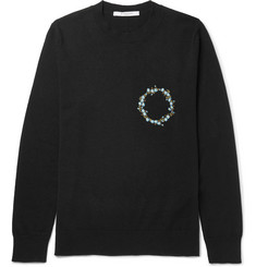 Givenchy - Slim-Fit Embroidered Cashmere Sweater