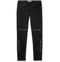 Givenchy Slim-Fit Zip-Detailed Stretch-Denim Jeans