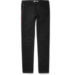 Givenchy Cuban-Fit Appliquéd Denim Jeans