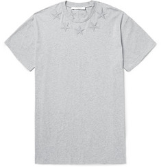 Givenchy Columbian-Fit Embroidered Cotton-Jersey T-Shirt