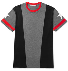 Givenchy - Columbian-Fit Panelled Cotton-Jersey T-Shirt