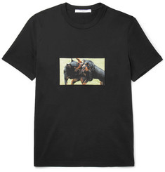 Givenchy Cuban-Fit Rottweiler-Appliquéd Cotton-Jersey T-Shirt