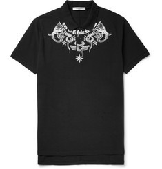Givenchy Oversized Tattoo-Print Cotton-Piqué Polo Shirt