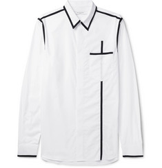 Givenchy Slim-Fit Contrast-Trimmed Cotton-Poplin Shirt