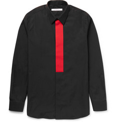 Givenchy Colour-Block Cotton-Poplin Shirt