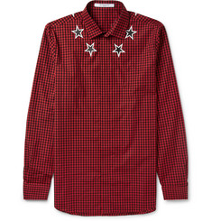 Givenchy Star-Print Gingham Cotton Shirt