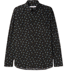 Givenchy Cuban-Fit Floral-Print Silk Shirt