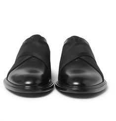 Givenchy - Elastic-Trimmed Polished-Leather Derby Shoes