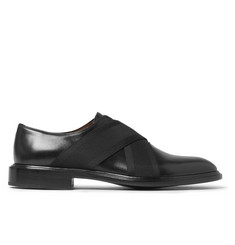 Givenchy Elastic-Trimmed Polished-Leather Derby Shoes