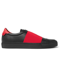 Givenchy Elasticated-Strap Leather Sneakers