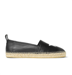 Givenchy Star-Embossed Leather Espadrilles
