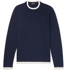 Berluti Contrast-Trimmed Silk and Cotton-Blend Sweater