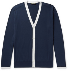 Berluti Contrast-Trimmed Silk and Cotton-Blend Cardigan