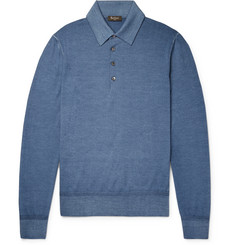 Berluti - Slim-Fit Wool Polo Shirt