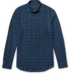 Berluti Slim-Fit Checked Cotton Shirt