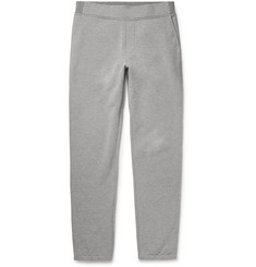 Berluti Leather-Trimmed Loopback Cotton-Jersey Sweatpants