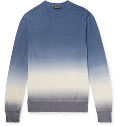Berluti Slim-Fit Dégradé Cashmere and Silk-Blend Sweater