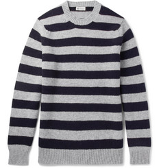 Connolly Stirling Striped Wool and Cashmere-Blend Sweater