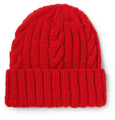 Connolly Cable-Knit Wool Beanie