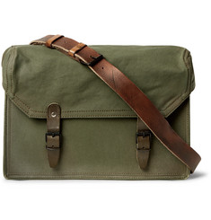 Maison Margiela Replica Leather-Trimmed Canvas Messenger Bag