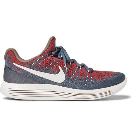 Undercover Nikelab Gyakusou Lunarepic Low Flyknit 2 Sneakers In Blue