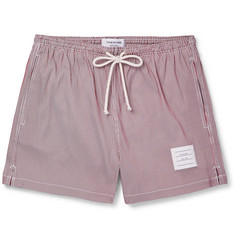 Thom Browne Slim-Fit Short-Length Striped Swim Shorts
