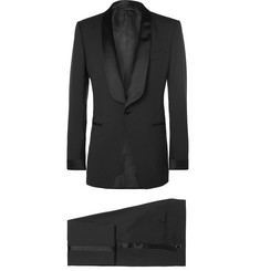TOM FORD Black O'Connor Slim-Fit Satin-Trimmed Super 110s Wool Tuxedo