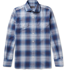 TOM FORD - Slim-Fit Checked Cotton Shirt