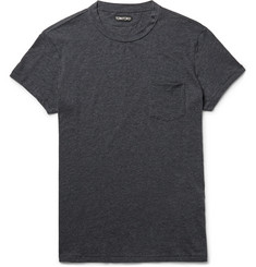 TOM FORD Slim-Fit Mélange Cotton and Cashmere-Blend T-Shirt