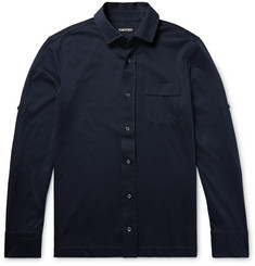 TOM FORD Slim-Fit Brushed Cotton-Jersey Shirt