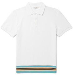 Valentino Contrast-Trimmed Cotton-Piqué Polo Shirt