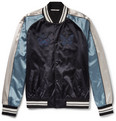 Valentino - Embroidered Satin Bomber Jacket
