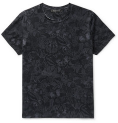 Valentino Slim-Fit Butterfly-Print Cotton-Jersey T-shirt