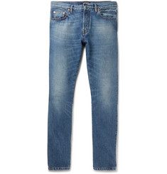 Valentino Slim-Fit Contrast-Panelled Denim Jeans