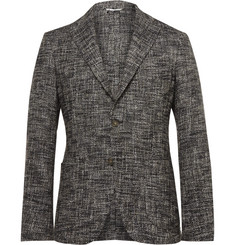 Etro Grey Slim-Fit Unstructured Textured Cotton-Blend Blazer