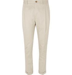 Etro - Slim-Fit Cotton-Twill Trousers