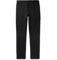 Etro Black Slim-Fit Cotton-Blend Trousers