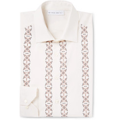 Etro Slim-Fit Embellished Cotton and Silk-Blend Shirt