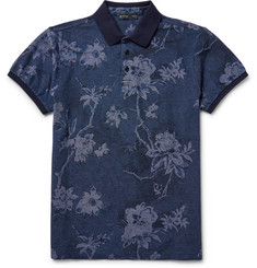 Etro Slim-Fit Floral Cotton-Piqué Polo Shirt