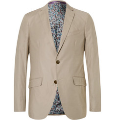 Etro Beige Stretch-Cotton Blazer
